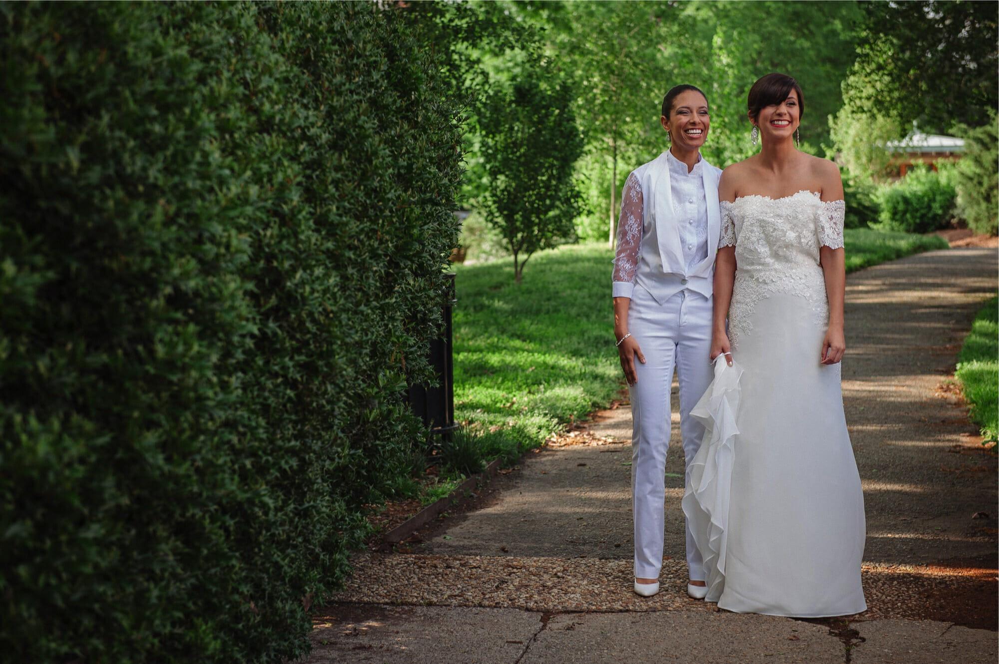 Meridian Hill Park DC LGBT Wedding Portrait