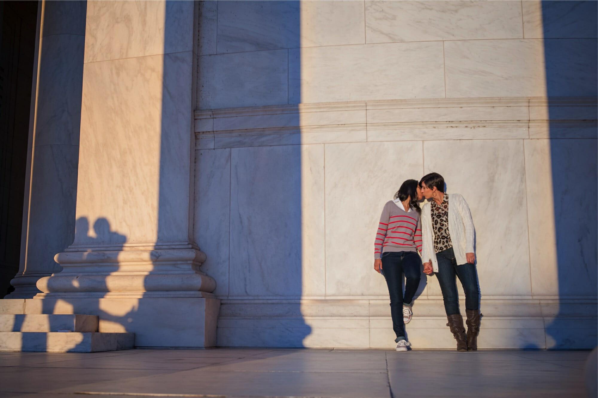 LGBT DC Engagement National Mall Jefferson Memorial