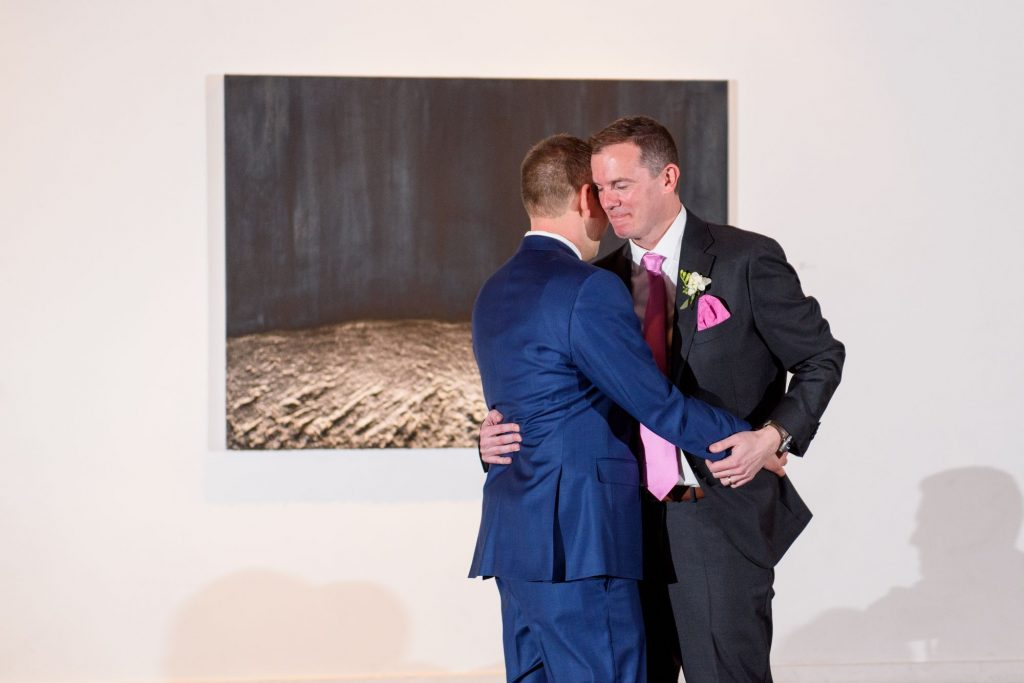 Long View Gallery DC LGBT Wedding Two Grooms Reception and Dancing First Dance