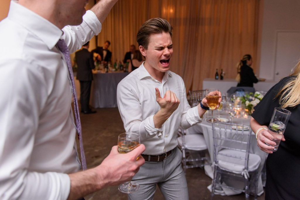 Long View Gallery DC LGBT Wedding Two Grooms Reception and Dancing