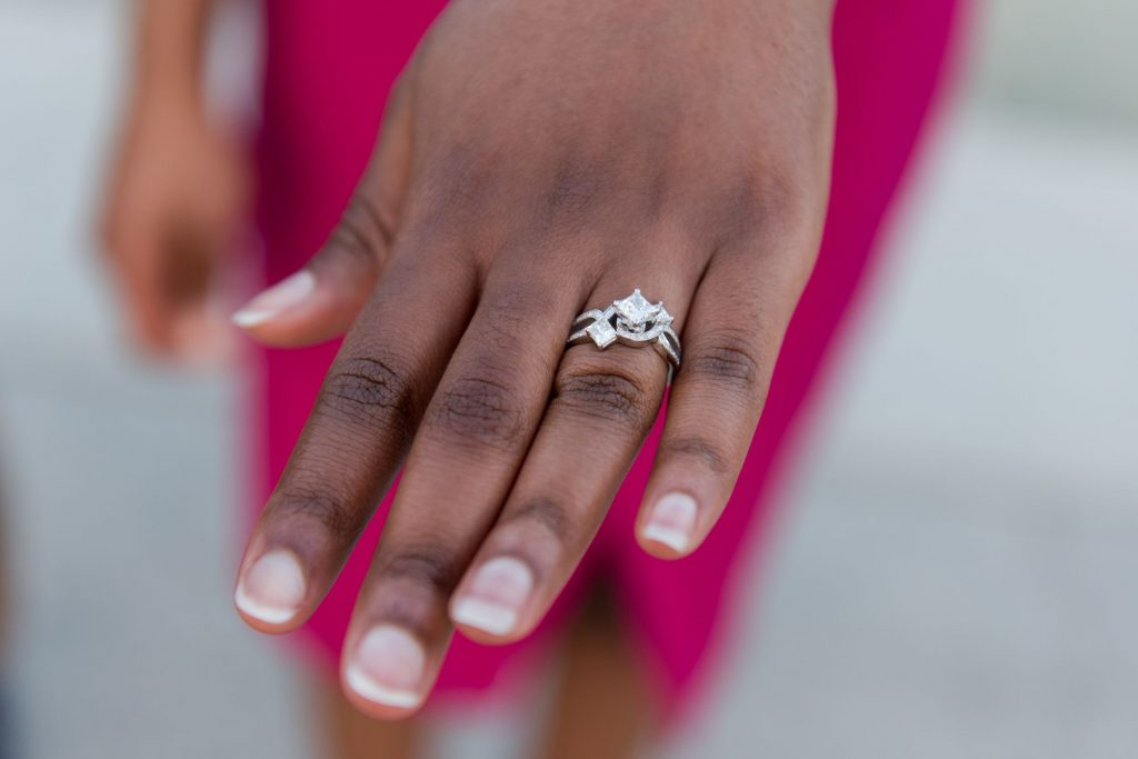 Washington DC proposal and engagement photography on the National Mall at the Lincoln Memorial