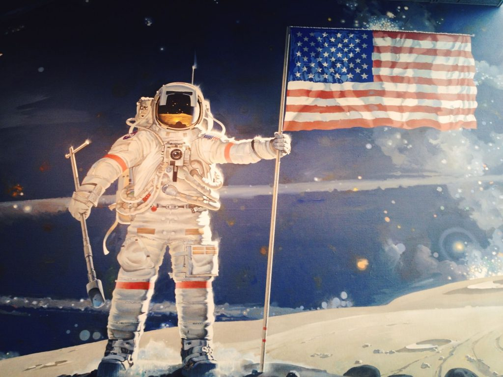 The Space Mural: A Cosmic View, painted by artist Robert McCall, located in the National Air and Space Museum