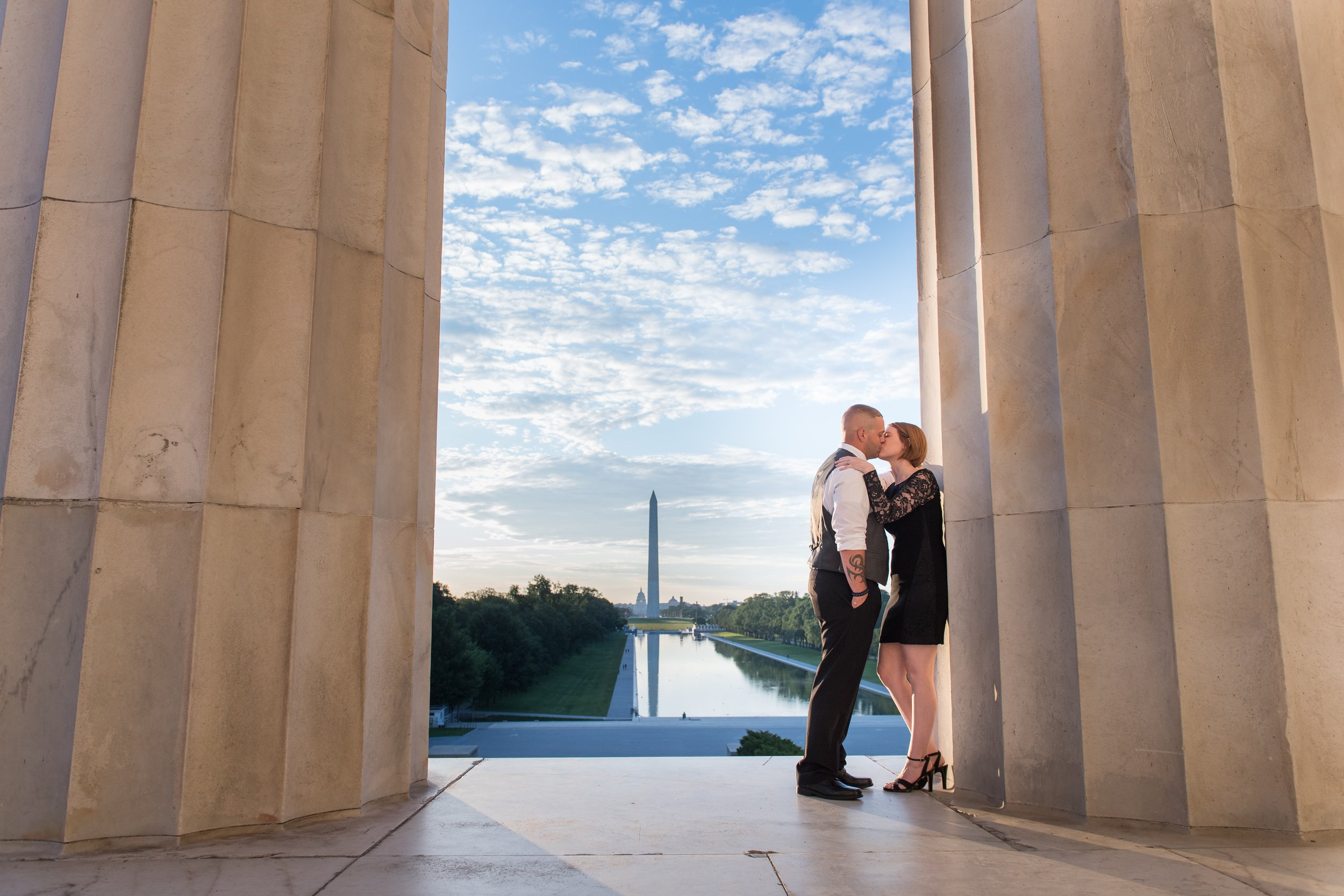 Washington DC National Mall Sunrise Photo Session at the Lincoln Memorial