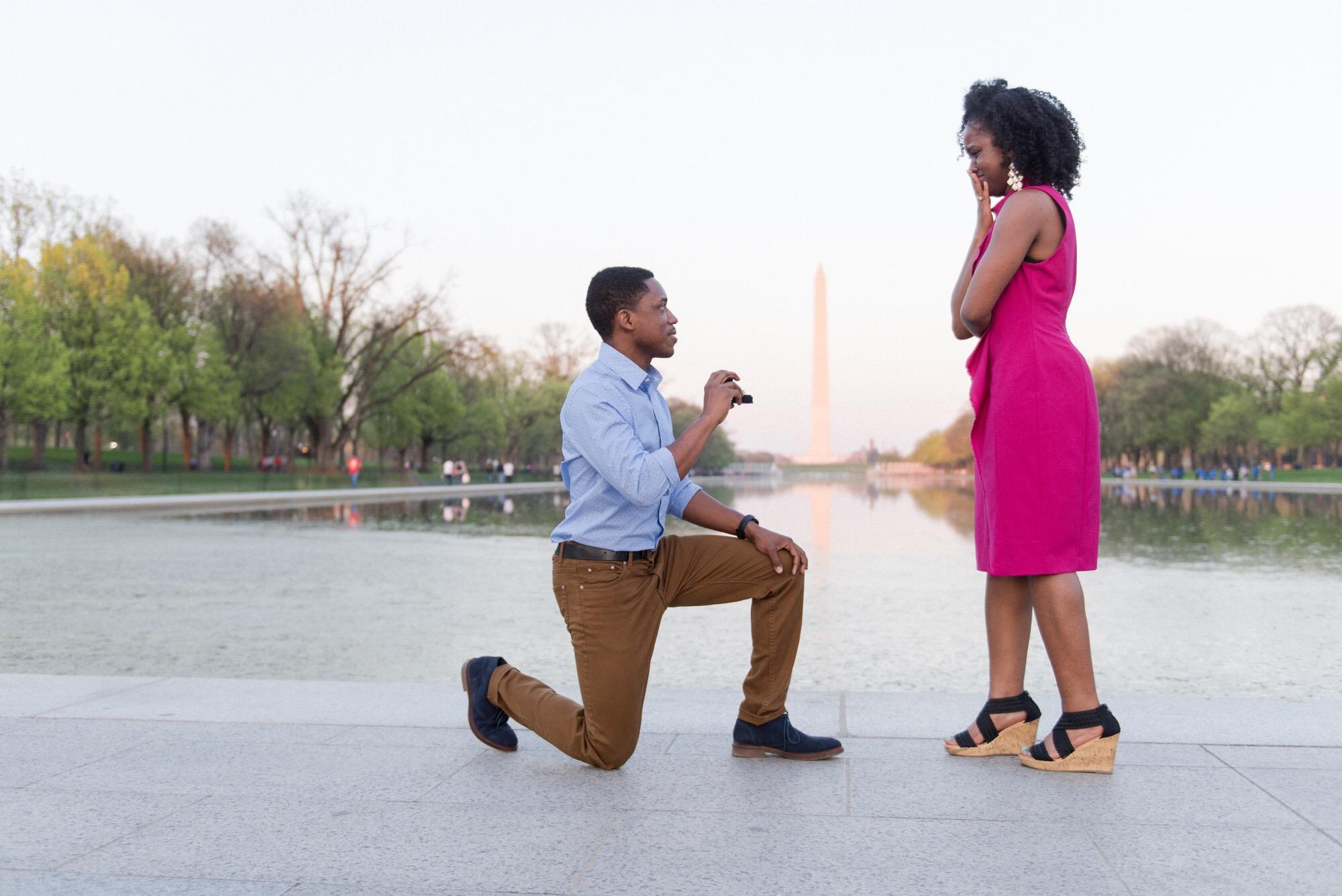 Washington DC National Mall Proposal Photographer